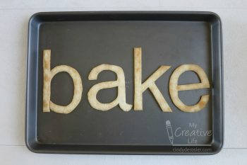 Spell out names, words or messages with pie crust.