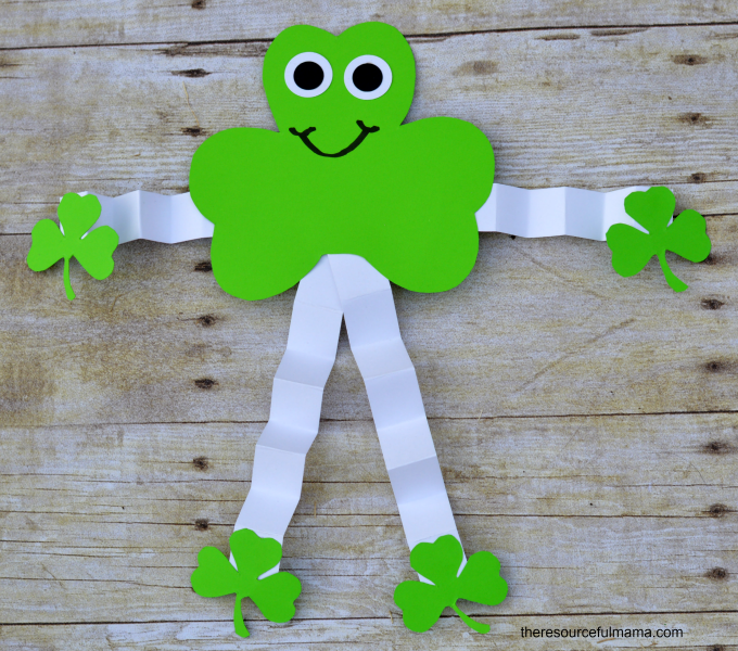 St. Patrick's Day Shamrock Man | Fun Family Crafts