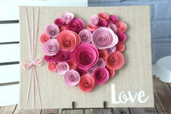Spiraled Paper Flower Craft