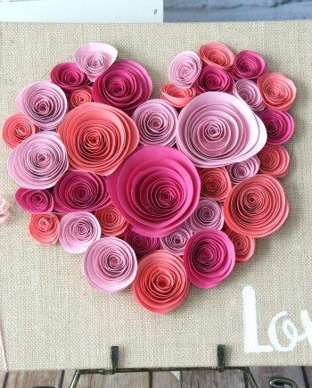 Spiraled Paper Flower Craft