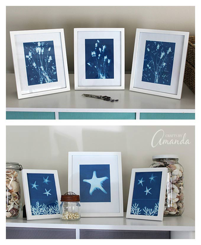Make beautiful artwork using sun print paper and the sun!