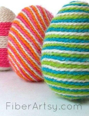 Yarn-Wrapped Easter Eggs