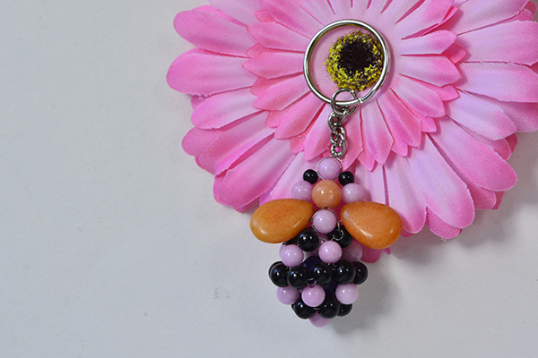 How to Make Cheap Bee Keychains with Jade Beads and Glass beads