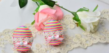Instructions on How to Make Kid's Easter Eggs Made from Faux Suede Cords