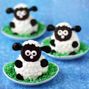 Adorably cute Fluffy Sheep Cupcakes make the perfect treat for Easter or a farm themed party.