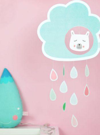 Printable Rain Cloud Mobile