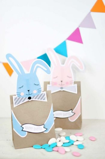 Printable Bunny Easter Bags