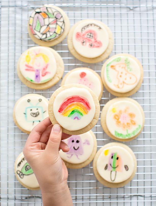 Kids Art Fondant Cookies