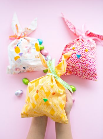 Bunny Fabric Favor Bags