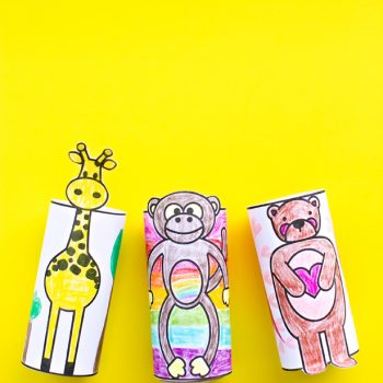 Printable Paper Tube Animals