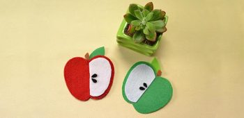 Children's Day Crafts-How to Make Easy Felt Apple for Kids