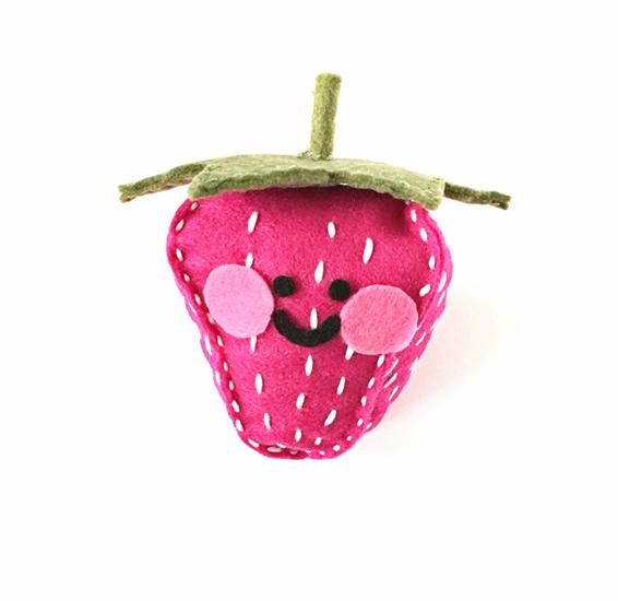Felt Strawberry Cushion Toy