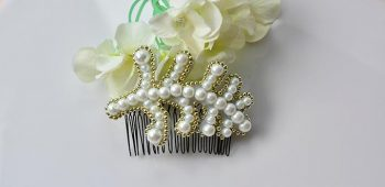 DIY Mother's Day Gift - How to Make an Elegant Pearl Embroidery Leaf Hair Comb