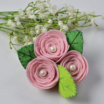 Felt Rose Corsage