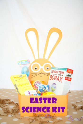 A great alternative to an Easter candy basket. It comes with free printable for 6 simple science experiments.
