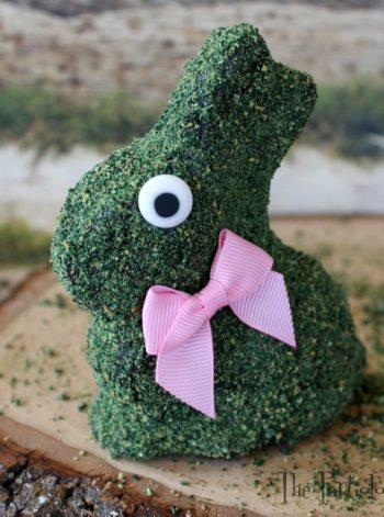 Chocolate Bunny with Edible 'Moss'