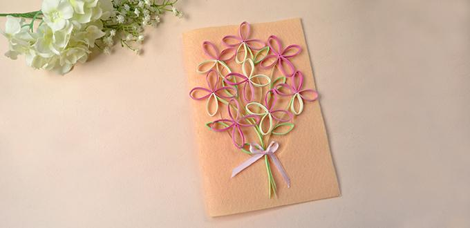How to Make a Handmade Tree Quilling Paper Greeting Card for Mother's Day