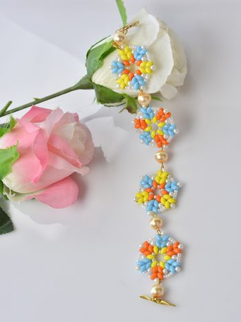 Pandahall Tutorial on How to Make a 2-Hole Seed Bead Flower Bracelet