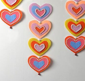 Felt and Pearl Hearts