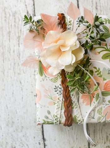 Boho-Style Gift Wrapping