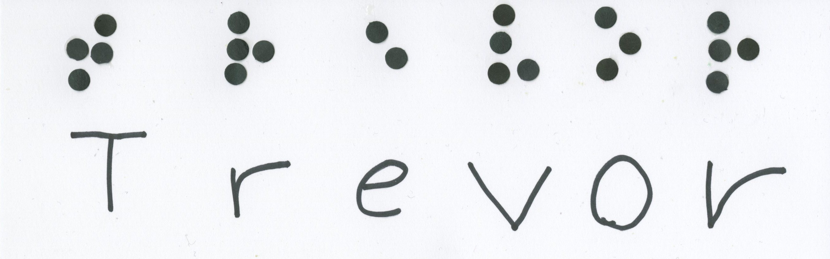 Simulated Braille Name Art | Fun Family Crafts