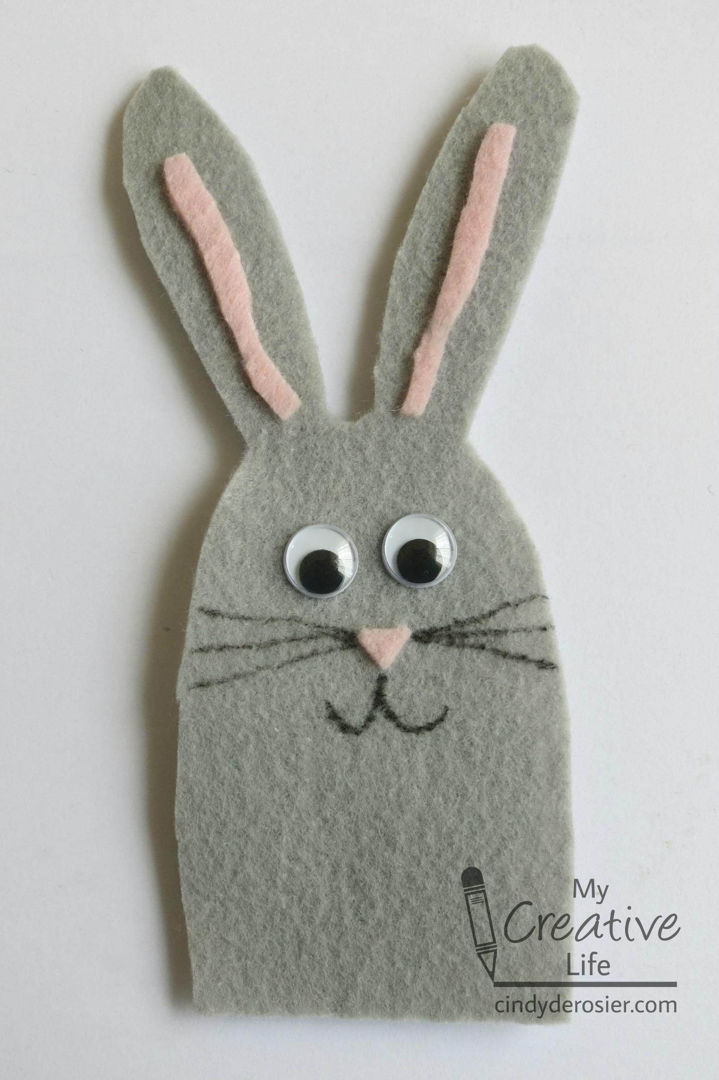 Rabbit Finger Puppet   Fun Family Crafts