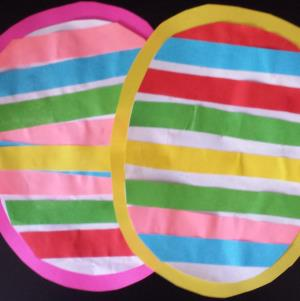 This Easter egg craft is simple enough a fun toddler or preschooler Easter activity.