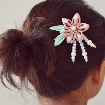 Ribbon Flower Hairpin