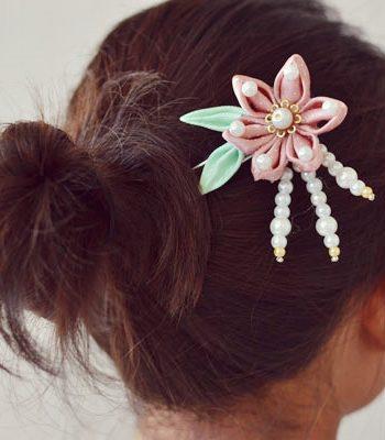 Ribbon Flower Hairpin