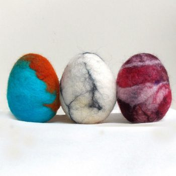 Fun Felted Easter Eggs