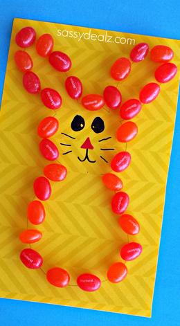 Jelly Bean Bunny Craft