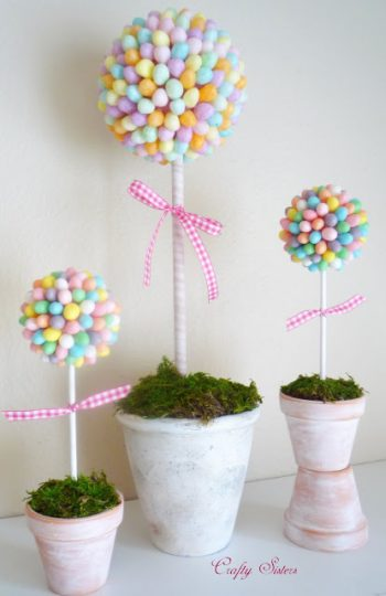 Use jelly beans to create a beautiful topiary.