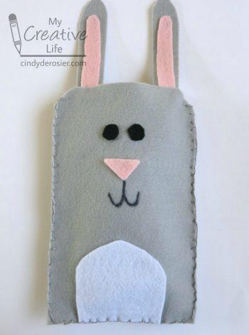 Felt Bunny Electronics Case