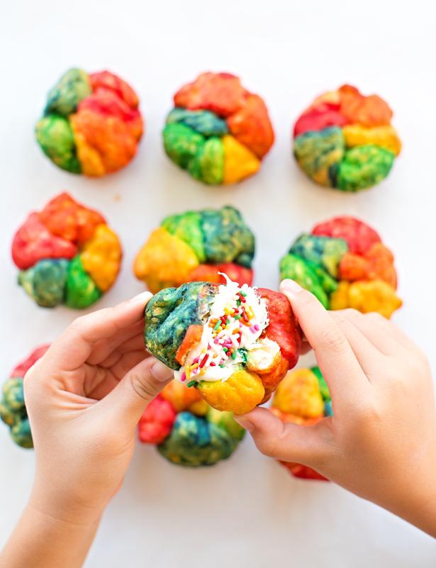 Mini Rainbow Pull Apart Bread