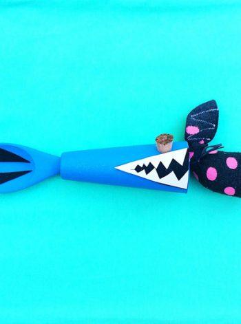 Wooden Spoon Shark Toy
