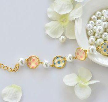 Washi Tape Cabochon Bracelet