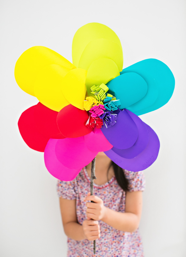 Giant Rainbow Paper Flower