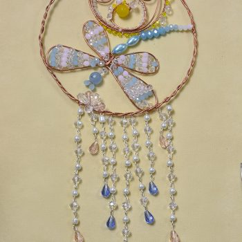 Beaded Dragonfly Hanging Ornament