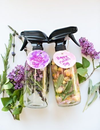 Kid-Made Mother's Day Floral Herb Perfume