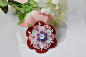 How to Make Simple Felt Flower Brooch for Women