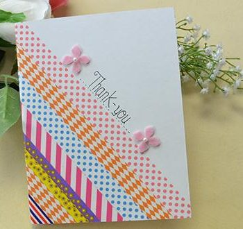 Washi Tape Thank-you Card