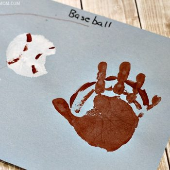 Handprint Baseball Craft