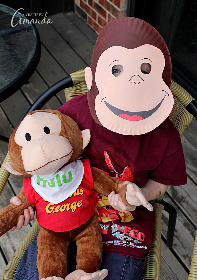 This Curious George mask is super easy to make out of a paper plate and so & Curious George Paper Mask | Fun Family Crafts
