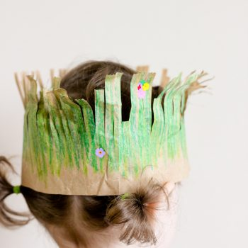 Grass Crown for Earth Day