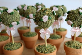Turn a cake pop into a edible topiary tree!