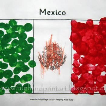 Fingerprint Flag of Mexico
