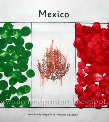 Fingerprint Flag of Mexico