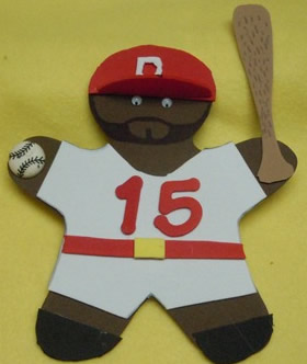 Turn a gingerbread man into your favorite baseball player!