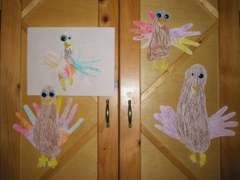 footprint/handprint turkeys for the whole family!