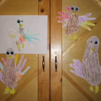 Footprint/Handprint Turkeys